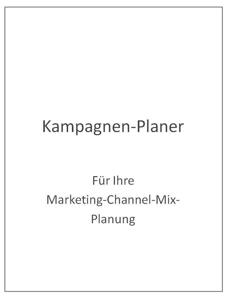 Marketing-Helfer Nr. 2 - Kampagen-Planer für Marketing-Channel-Mix-Planung - Umschlagseite 1